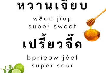 Thai Taste and Flavor Expressions (sweet, sour, salty, bitter etc.)