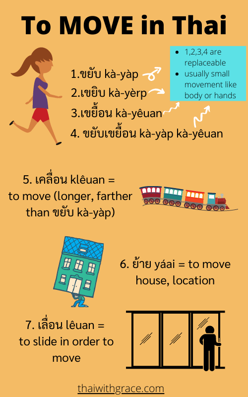 how to say to move in Thai language