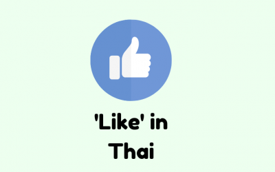 Different ways to say 'like' in Thai