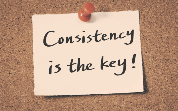 Consistency is key when learning languages